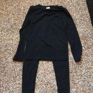 NWTs Black thermal.  Ski clothes.